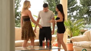 Aida Sweet and Lucy Heart Fuck Cock Outdoors