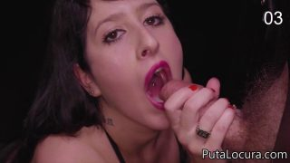 SPANISH GLORYHOLE – PAMELA LIKES EATING CUMSHOTS FROM STRANGERS